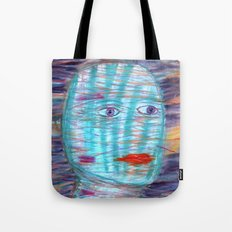 Plaid Head Tote Bag