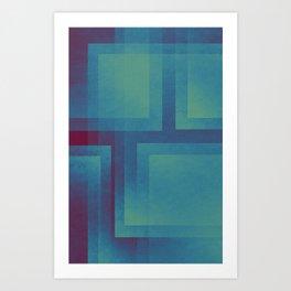 Retro surf pattern Art Print