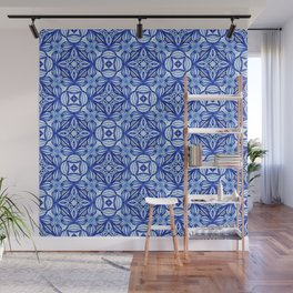 For the Love of Blue - Pattern 372 Wall Mural