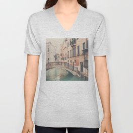 wandering the streets ... Unisex V-Neck