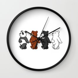 Dancing Bears Wall Clock