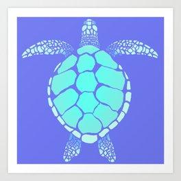 Ocean Blue Turtle Art Print