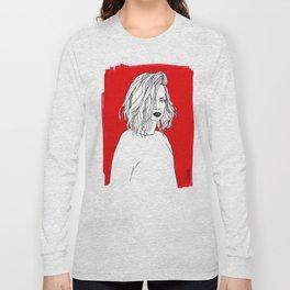 RED SHIRLEY MANSON Long Sleeve T-shirt
