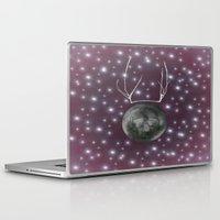 dark side of the moon Laptop & iPad Skins featuring Dark Side of the Moon by Helle Gade
