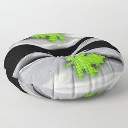 Digital Adam and Eve Floor Pillow