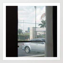 MOTEL view- MIAMI - by Jay Hops Art Print