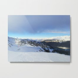 The views behind the blue rope Metal Print