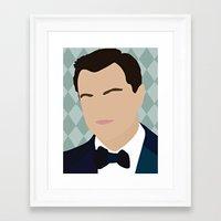 leonardo dicaprio Framed Art Prints featuring Leonardo Dicaprio by Emily Brady