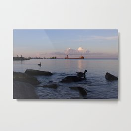 Lakefront Blues Metal Print