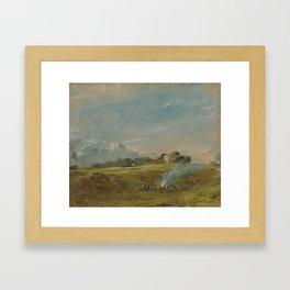 John Constable - Hampstead Heath, with a Bonfire Framed Art Print