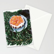Watercolor Tangerine Cake Stationery Cards