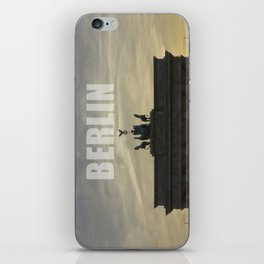 BERLIN, Sunset at the Brandenburg Gate iPhone Skin