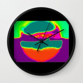 Psychedelic Hamburger Wall Clock
