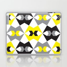 Yellow, gray & black geometric pattern Laptop & iPad Skin