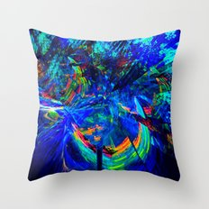 Blue Paradise Throw Pillow