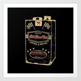 Old Time Car Oil Can  Art Print