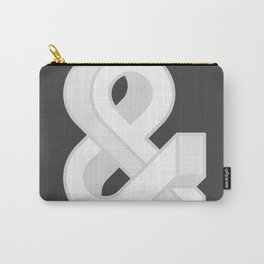 Grayscaled Ampersand Carry-All Pouch