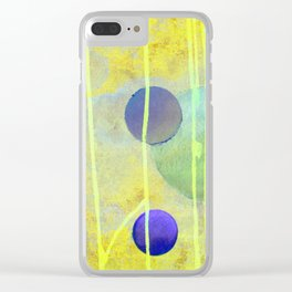 yellow sphere Clear iPhone Case