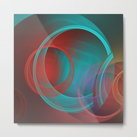 Abstract with translucent geometric shapes Metal Print