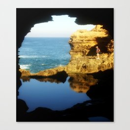 "Inside ""The Grotto"" Looking Out! Canvas Print"