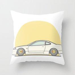 Nissan 200SX S15 Vector illustration Throw Pillow
