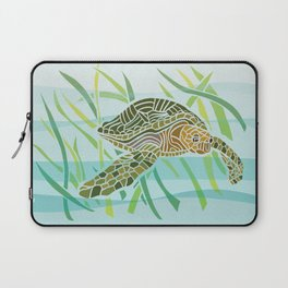 Sea Turtle at Home Laptop Sleeve