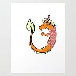 Pumpkin Spice Chinese Dragon Art Print