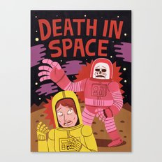 Death In Space B-movie Canvas Print