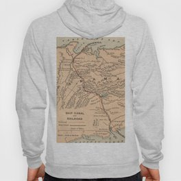 Vintage Map of The Panama Canal (1885) Hoody