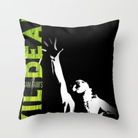 evil dead Throw Pillows featuring Evil Dead by JAGraphic