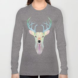 white deer Long Sleeve T-shirt