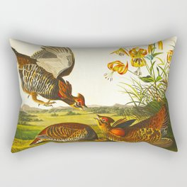 Pinnated Grouse Bird Rectangular Pillow
