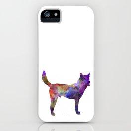 Korea Jindo Dog in watercolor iPhone Case