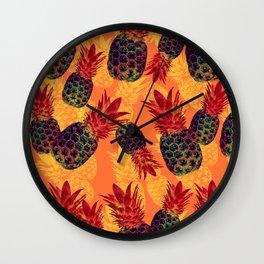 Pineapple Carnival Wall Clock