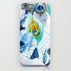 Watercolor Peacock Feather Pattern Slim Case iPhone 6s