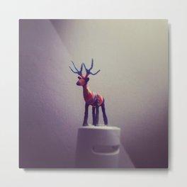 Deer in the Meadows Metal Print