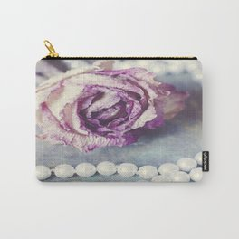 Pearls and Rose Carry-All Pouch
