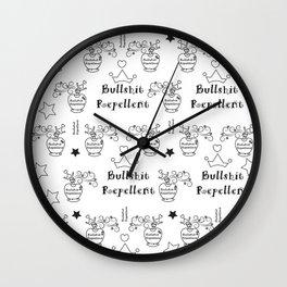 Bullshit Repellent Wall Clock
