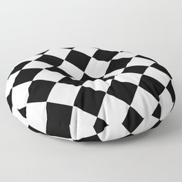 Diamond Black And White Floor Pillow