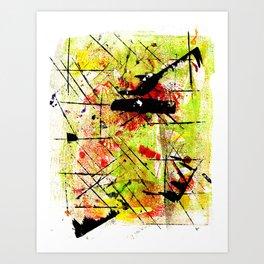 In The Falling Rain Art Print