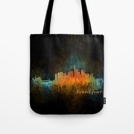 Frankfurt am Main, City Cityscape Skyline watercolor art v4 Tote Bag