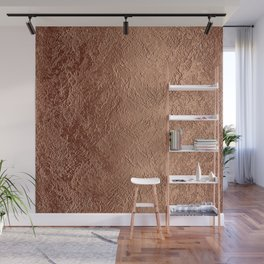 Textured Copper Foil Wall Mural