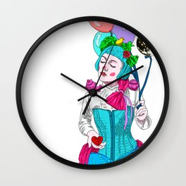 The moon, The Lady with a broken heart Wall Clock