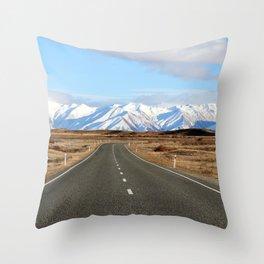White Cap Journey Throw Pillow