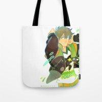iwatobi Tote Bags featuring Free! Club Makoto by Alyssa Tye