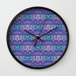 Bright Ornamental Night Wall Clock