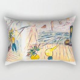 X voYages de Zed (toile 8 - série 1) Rectangular Pillow