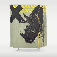 kill la kill Shower Curtains featuring Trophy Kill by Alex Craig