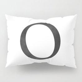 Letter O Initial Monogram Black and White Pillow Sham