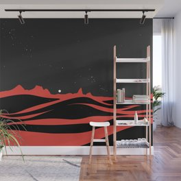 Black Dunes Wall Mural